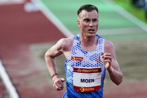 Sondre Nordstad Moen er Norges håp på maraton-distansen. Her i aksjon på Bislett stadion tidligere i år.